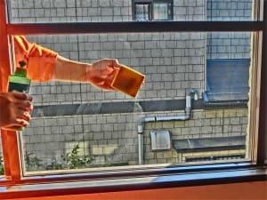 窓ガラスコートで仕上げておく
