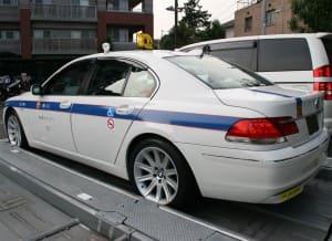 個人タクシーのお客様(BMW750i)