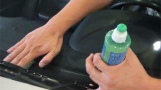 窓ガラスコートを使うと出る白い粉に困ったときの対処法。はたいてください(^^)