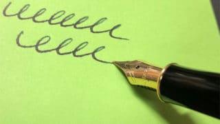 筆記用具を楽しむ。書くことにストレスを感じると楽しめなくなるのでね。