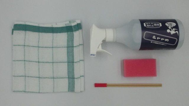 P113・P113-IIの付属品(本体、タオル、スポンジ、竹串)